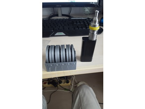 Wire dispenser with spool for e-cig coil