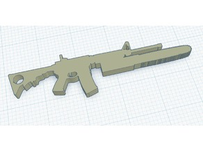 AR-15 chainsaw bayonet keychain