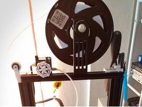 Ender 3 Filament Roller Guide at Top