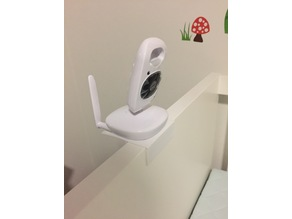 Baby monitor mount (Oricom) for cot frame