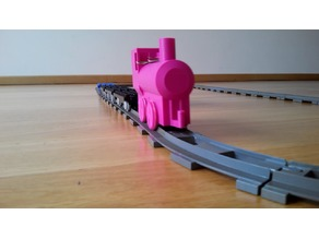 DUPLO train compatible electric locomotive