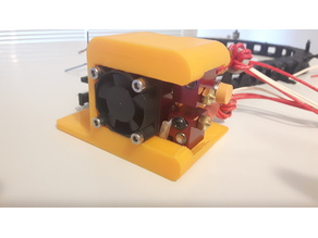 Bowden X-Carriage Mount for Chimera Dual Extruder and 12mm Auto Level Sensor