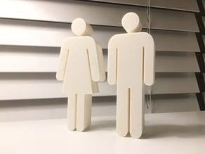 Bathroom Symbols Figurines