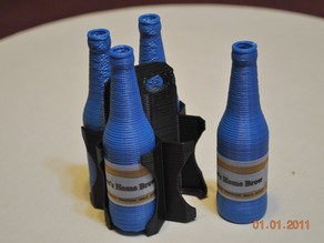 Four Pack carrier for beer bottle thing:5305