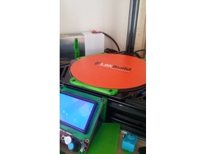 20cm glass supports (stock Micromake D1 bed heater)