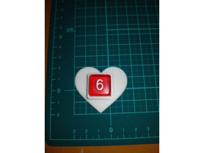 Heart shaped 6 sided die holder(16mm)