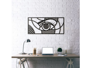 Eye Wall Sculpture 2D