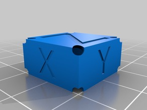 Customizable Calibration Box for SLA printers
