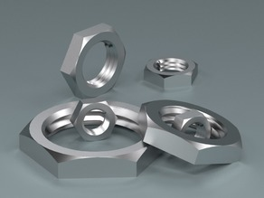 Lock Nut M created in PARTsolutions