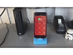 Phone stand with charging cord (iPhone 5/5s/6/6s/7)