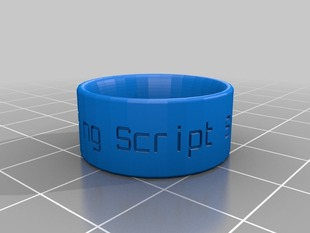 My Customized Ring Band Creation Script - Swiss sizes Customizer