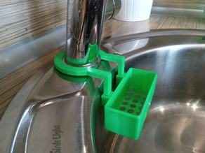 Sponge holder for round sink in the kitchen