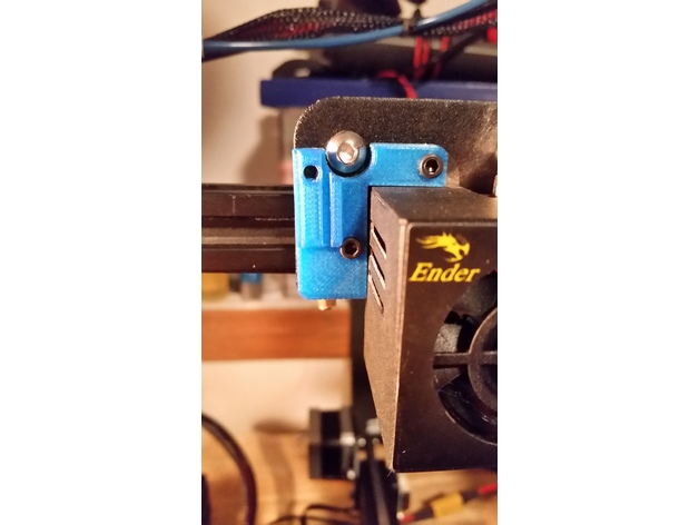 Adjustable BL-Touch sensor mount for Ender 3 and CR10 (with