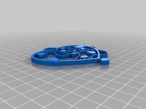 Heart chain pendant