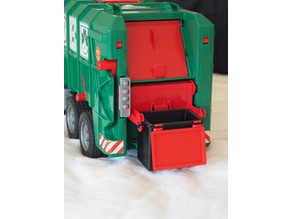 Bruder Garbage Truck Large Rubbish Trash Bin