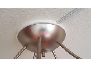 Spacer ring for ceiling lamps
