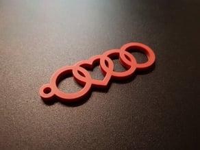 Audi Heart Keychain v2
