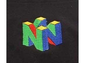 N64 Logo Embroidery Digitization