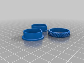 knurled Fidget Spinner Ring - 13.5