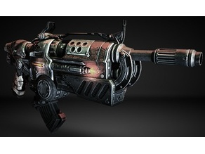 Gears of War 3 hammerburst with removable mag!