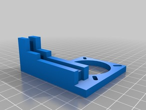 Simple 1405 extruder fan mount