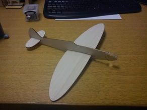 350mm Wingspan Balsa Spitfire Glider