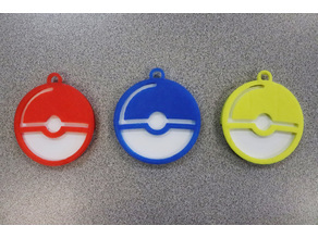 Pokeball Keychain (Fitted, Two Pieces)