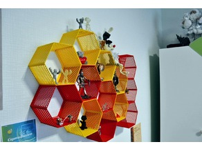 Hexagon fractal shelf