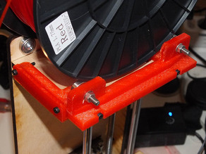 Adjustable Printrbot Simple XL Tower Filament Tray Expansion