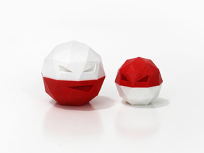 Low-Poly Voltorb and Electrode