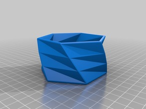 Hexagonal Flower Pot (twisted) for Succulents