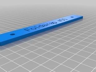 customisable foldarap name tag