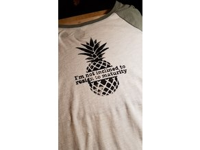 Screen Print Stencil: Psych Pineapple Design