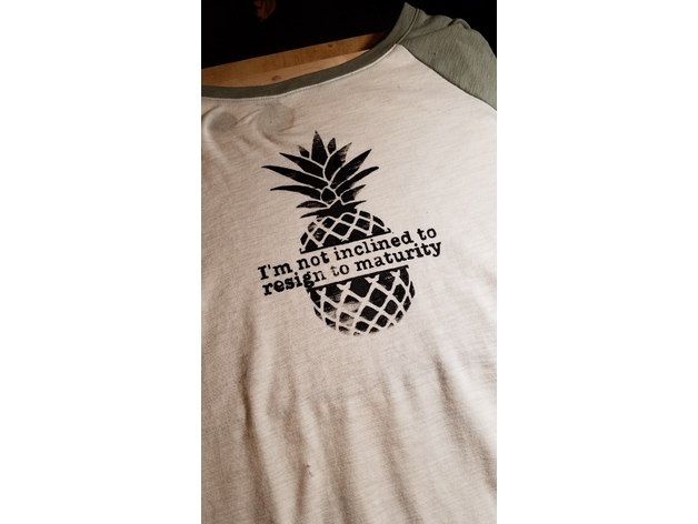 Screen Print Stencil: Psych Pineapple Design by DAVE42 ...