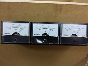 Voltage Panel for Analog Meters