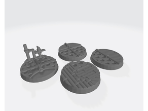 25mm Bases v2: Space Ship/industrial