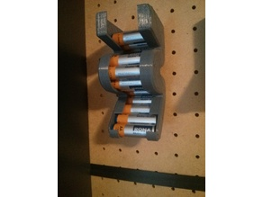 AA Battery Holder for Pegboard