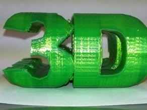 3D 3D Ambigram