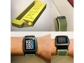 Pebble Time - strap watch adapter  (22mm and 20mm versions)