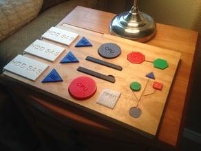 Enterprise Rack-mount Server Block Puzzle for Kids (CNC Project, WIP)