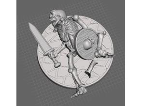 28mm Skeleton Warrior Dead / Casualty