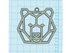 Geometric bear head - Tête d'ours géométrique
