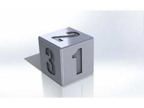 Calibration Cube - Dice