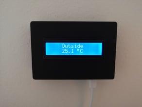 Box for NodeMCU and 16x2 screen