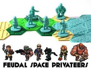 Pocket-Tactics: Feudal Space Privateers (Second Edition)