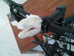 TRex Mustache Bike Figurehead
