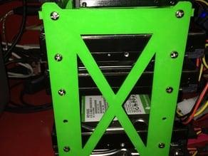 Simple 6 drive hard drive caddy