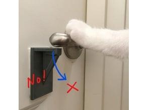 Anti-cat door handle stop.