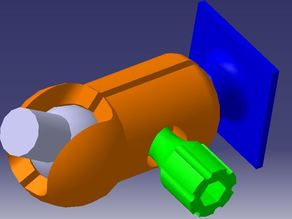 Ball joint for GoPro fixation V3