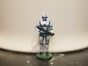 Tachyon Nine - Krogek Soldier (Sci-Fi Soldier Miniature 25mm)